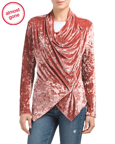 Crushed Velvet Draped Jacket