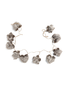 6ft Faux Fur  Garland