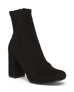 Suede Mid Ankle Stretch Booties