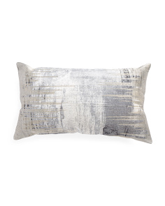 Made In India 14x24 Abstract Foil Print Pillow