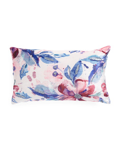 14x24 Velvet Soft Floral Pillow