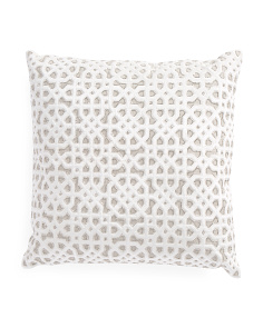 Made In India 22x22 Beaded Pillow