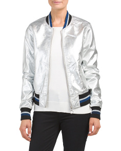 Juniors Metallic Bomber Jacket