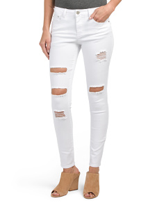 Juniors Destructed Jeans