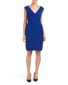 Matte Jersey Geo Sheath Dress