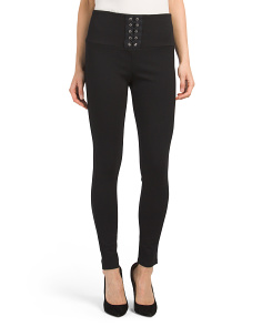 Juniors Corset Front Panel Pants