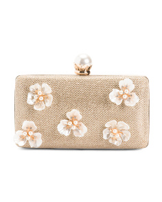 Minaudiere Floral Applique Clutch