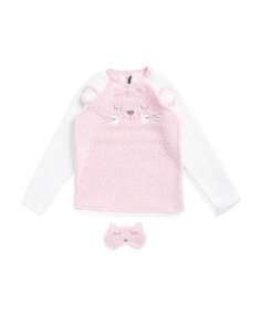 Cat Embroidered Pajama Set