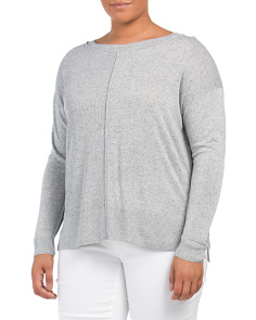Plus Featherweight Melange Sweater