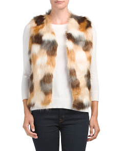 Multi-color Faux Fur Vest