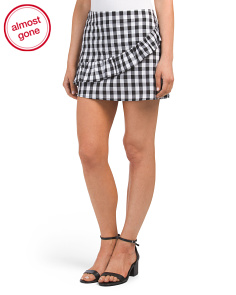 Juniors Gingham Mini Skirt