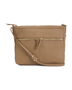 Leather Large Hardware Crossbody