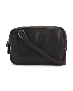 Leather Triple Zip Crossbody