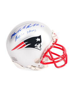 Malcolm Butler Signed New England Patriots Mini Helmet