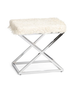 Faux Fur Criss Cross Bench