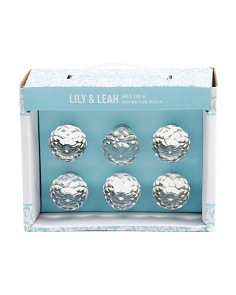 Set Of 6 Crystal Knobs