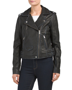 Whitney Moto Leather Jacket