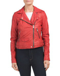 Whitney Leather Moto Jacket