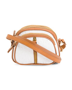 Made In Italy Small Leather Crossbody