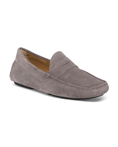 Made In Italy River Suede Penny Loafers