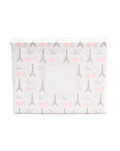 Kids Eiffel Tower Metallic Sheet Set