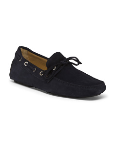 Made In Italy Suede Driver Penny Loafers