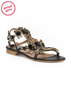 Made In Italy Jewel Ankle Sandals