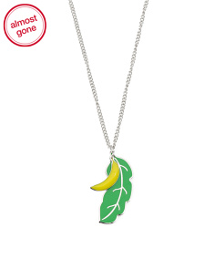 Designed In UK Banana And Palm Leaf Necklace