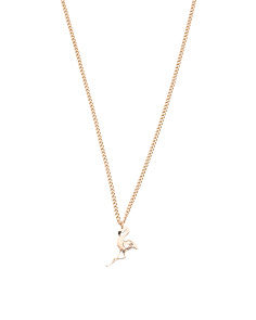 Designed In UK Flamingo Necklace