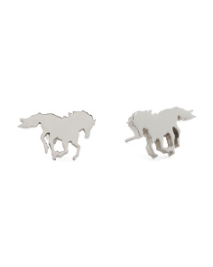 Designed In UK Pony Stud Earrings