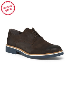 Made In Italy Suede Oxford Shoes