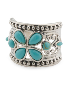 Made In Thailand Sterling Silver Turquoise Ring