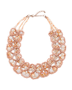 2 Row Crystal Collar Necklace