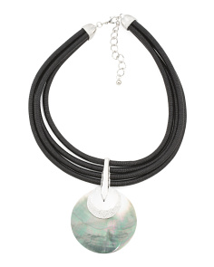 Abalone Multi Cord Necklace