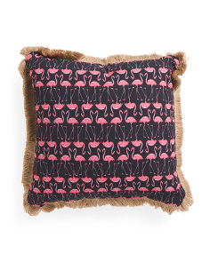 20x20 Indoor Outdoor Flamingo Pillow