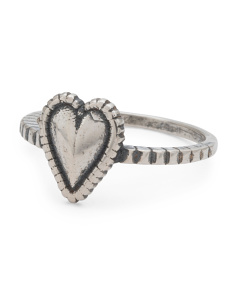 Made In Italy Sterling Silver Heart Ring