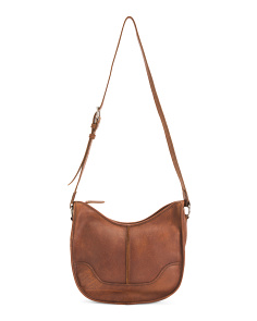 Cara Leather Saddle Bag