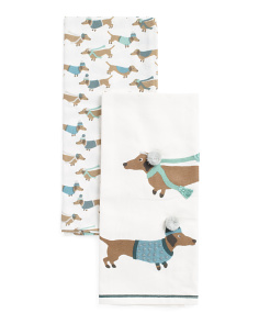 Made In India 2pc  Dachshunds Towels