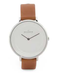 Women's Ditte Leather Strap Watch