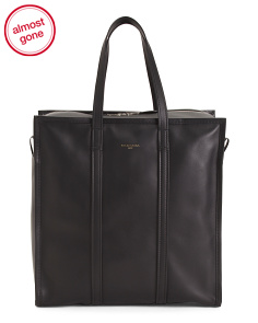Made In Italy Bazar Leather Tote