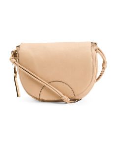 Luela Leather Flap Crossbody