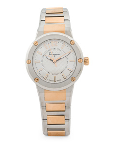 Women's Swiss Made F80 Two Tone Bracelet Watch
