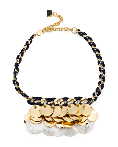 Designed In The UK 18k Gold Plated Mina Statement Necklace