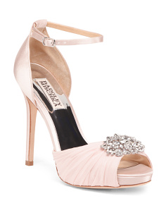 Embellished Peep Toe Evening Shoes