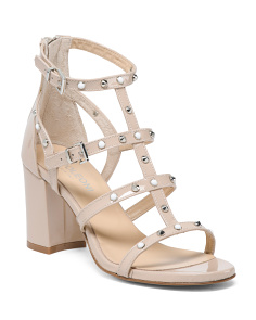 Made In Italy Chunky Patent Leather Sandals