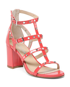 Made In Italy High Heel Leather Sandals