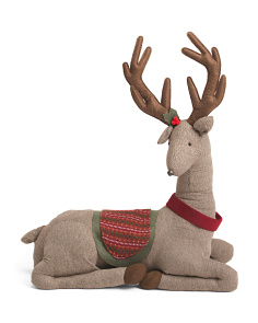 36in Herringbone Plush Reindeer