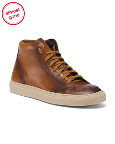 Made In Italy Hightop Leather Sneakers