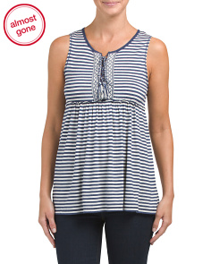 Sleeveless Striped Jersey Top