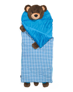 Kids Bear Plush Sleeping Bag